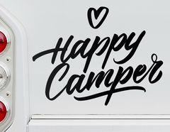 Autoaufkleber Happy Camper's Heart