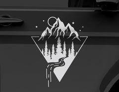 Autoaufkleber Magic Mountain Peak