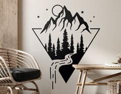 Wandtattoo Magic Mountain Peak