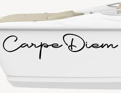 Bootsaufkleber Carpe Diem Lettering