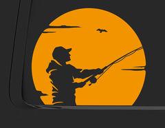 Autoaufkleber Fisherman's Sunset