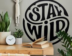 Wandtattoo Stay Wild Emblem
