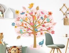 Wandtattoo Vogelgesang im Rosenbaum
