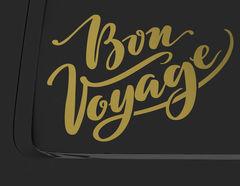 Autoaufkleber Bon Voyage Lettering
