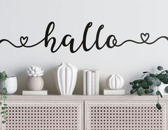Wandtattoo Hallo Lettering Banner