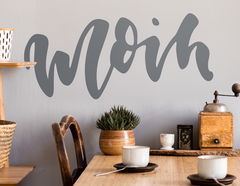 Wandtattoo Moin Lettering