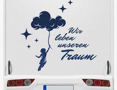 Autoaufkleber Wir leben unseren Traum