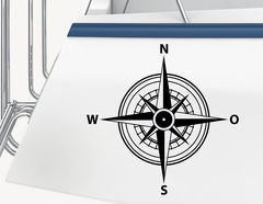 Bootsaufkleber Windrose
