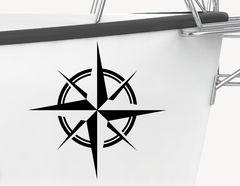 Bootsaufkleber Windrose klassisch