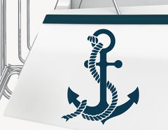 Bootsaufkleber Anker mit Tau