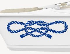 Bootsaufkleber Tauknoten