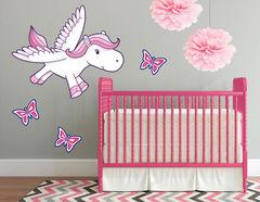 Wandtattoo Pegasus Pink Penny