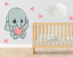 Wandtattoo Babyelefant Emmi