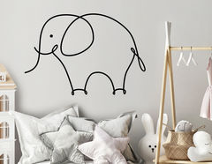 One Line Art - Elephant
