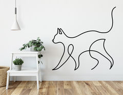 Wandtattoo One Line Art - Cat