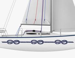 Bootsaufkleber Achterknoten-Set