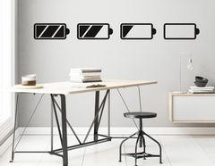 """Wandtattoo """"Akkustand"""" coole Icons für Dein Arbeitszimmer"""