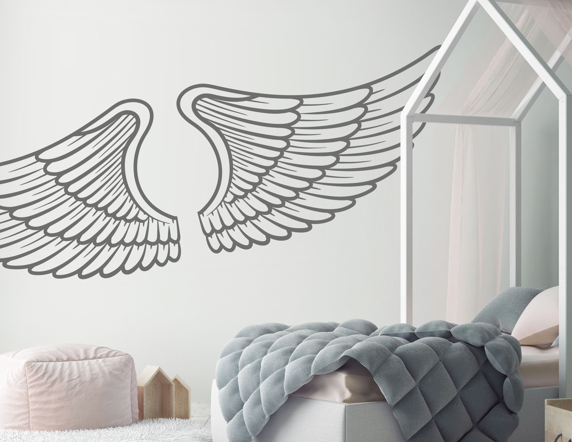 Wandtattoo Angel Wings