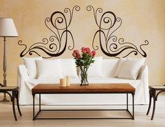 Art Nouveau - Filigrane, Wandtattoo im Jugendstil-Design
