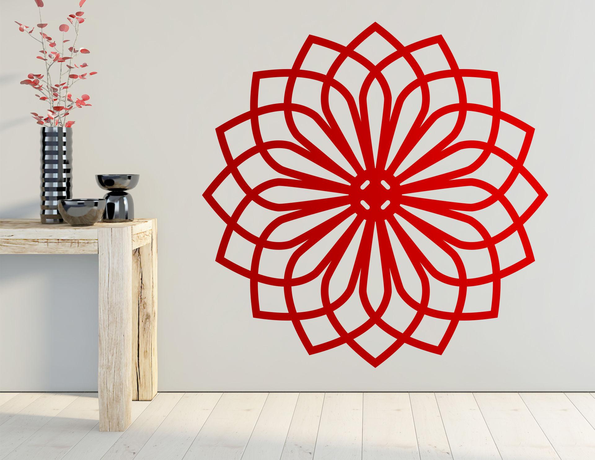 Wandtattoo Asian Flower