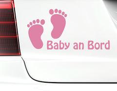 """Autoaufkleber """"Schritt für Schritt"""" mit 2 süßen Baby-Füßchen"""