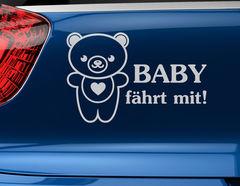 "Autoaufkleber ""Bord Bär Bummi"" lässt jedes Herz losbrummen"