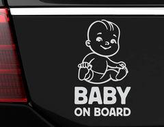 "Autoaufkleber ""Wonneproppen on Board"" mit süßem Baby & Text"