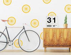 """Wandtattoo """"Bicycle Wheels"""" für echte Vollblut-Radfahrer"""