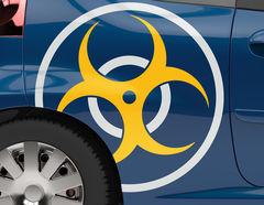 Autoaufkleber Biohazard
