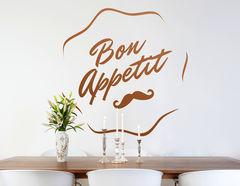 Wandtattoo Bon Appetit Schnurrbart