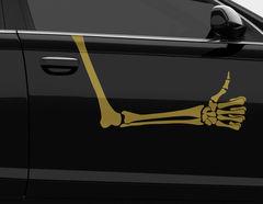 """Autoaufkleber """"Thumb up Bones"""" Skelettarm zeigt Daumen-Hoch"""