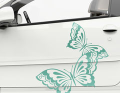 Autoaufkleber Butterfly Love-Set
