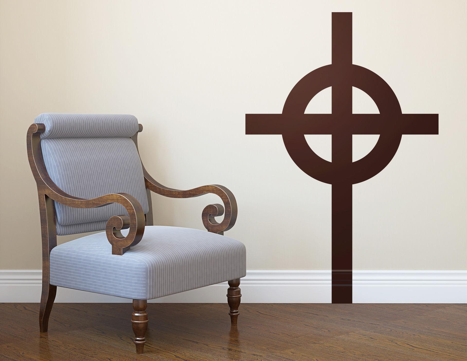 Wandtattoo Celtic Cross