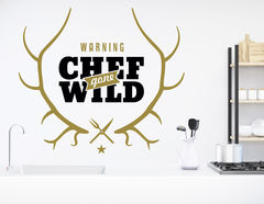 Wandtattoo Chef gone wild