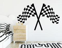 Wandtattoo Classic Racing Flag