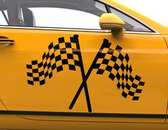 Autoaufkleber Classic Racing Flag