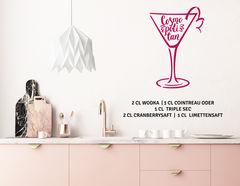 """Wandtattoo """"Cocktail Cosmopolitan"""" für Nachtclub-Feeling"""