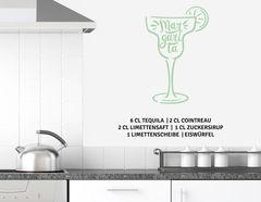 """Wandtattoo """"Cocktail Margarita"""": Mixer raus und Gläser hoch!"""