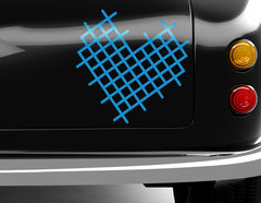 Autoaufkleber Cross-Stitch Heart