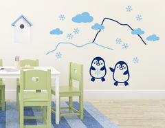 Wandtattoo Die kleinen Pinguine