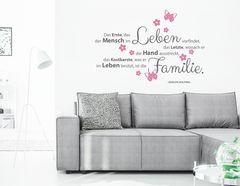 """Wandtattoo """"Familienschatz"""" für das Kostbarste im Leben."""