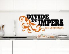 """Wandtattoo """"Divide Et Impera"""" bedeutet 'Teile und herrsche""""."""