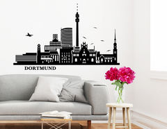 Wandtattoo Dortmunder Skyline zeigt berühmte Orte