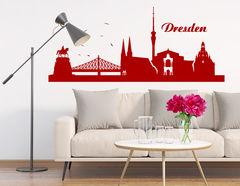Wandtattoo Skyline von Dresden zeigt Kulturstätten