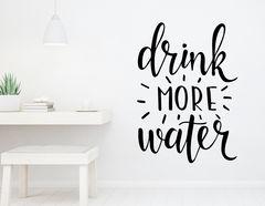 """Wandtattoo """"Drink more water"""": Trink mehr Wasser!"""