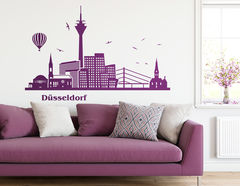 "Wandtattoo ""Düsseldorfer Skyline"" zeigt Highlights"