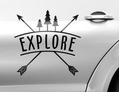 Autoaufkleber Explore