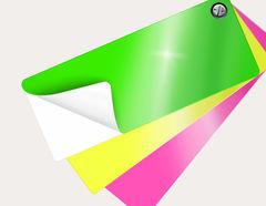 Selbstklebende Farbfolie High-Gloss/Neon auf Wunschmaß