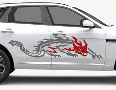 Autoaufkleber Fire Reptile-Set