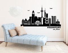 Wandtattoo Frankfurter Skyline zeigt typische Orte